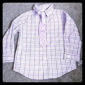 18 Months purple dress shirt with tie